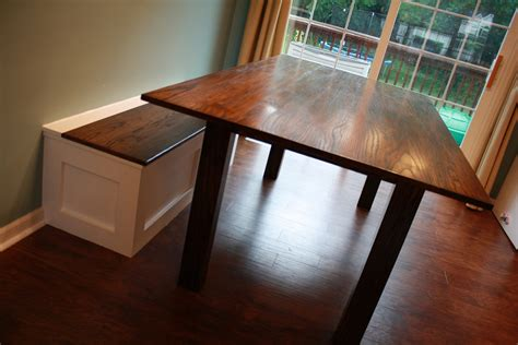kitchen table with bench storage s arts crafts table and built in storage bench 8640