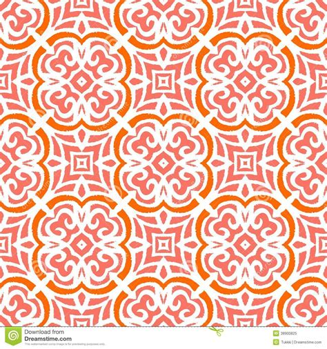 art deco pattern  organic floral shapes stock vector