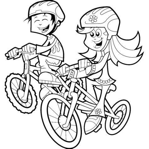disegno bambina facile disegno di bambini in bicicletta da colorare per bambini