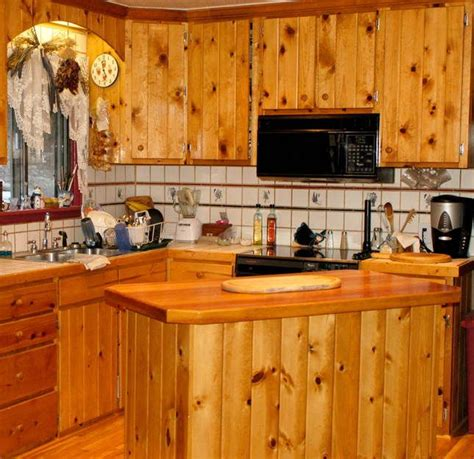 Knotty Pine Kitchen Island Rapflava