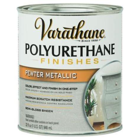 varathane floor finish polyurethane varathane 1 qt pewter metallic polyurethane 287759 the