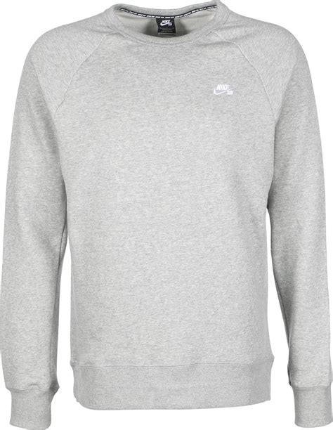 nike sb sweater nike sb icon crew fleece sweater grey weare shop