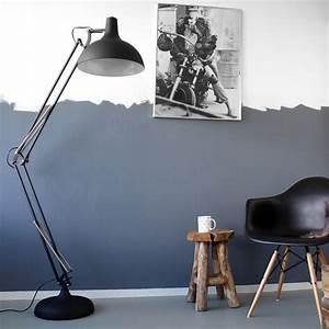 Lampe Type Industriel : lampadaire sur pied giga noir de 180cm ~ Melissatoandfro.com Idées de Décoration