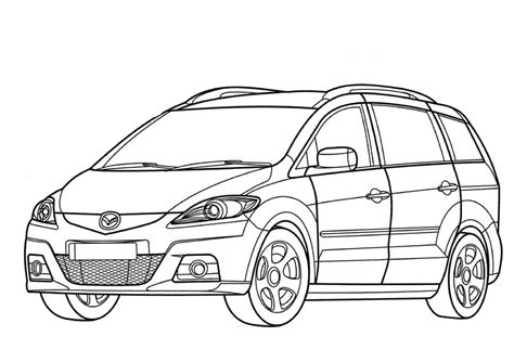 coloring pages coloring pages mazda printable  kids adults