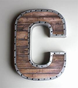 best 20 metal letters ideas on pinterest rustic nursery With salvaged metal letters