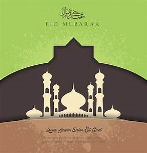 Islamic greeting card background vector - CdrAi com