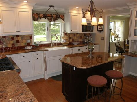 ivory cabinets with granite top traditional