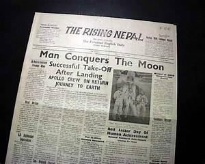 Rare MAN WALKS ON THE MOON Neil Armstrong APOLLO 11 Lands ...
