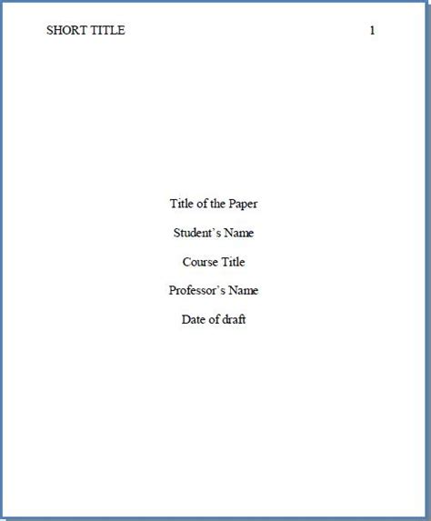 style cover page  format cover