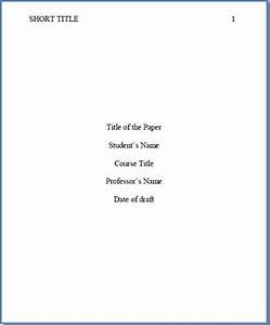 apa 6th edition essay title page cokid org With apa format sixth edition template