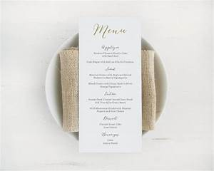 printable wedding menu template editable text and color With menu template for pages