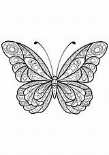 Butterfly Coloring Pages Butterflies Adults Patterns Adult Insects Children Mandala Simple Printable Easy Coloriage Sheets Justcolor Animals Insect Very sketch template