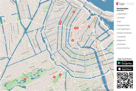 Amsterdam Museum District Map by Karte Von Amsterdam Ausdrucken Sygic Travel