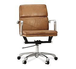 Humanscale Freedom Leather Task Chair by Desk Chairs Amp Home Office Chairs Pottery Barn