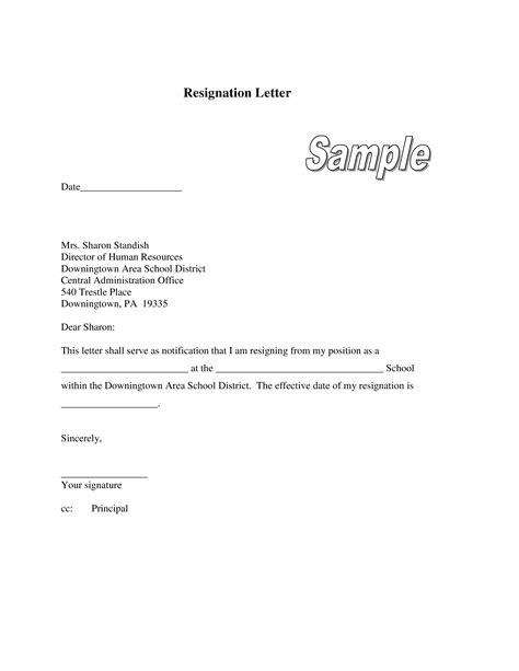 Teacher Resignation Letter To Principal   Templates at allbusinesstemplates.com