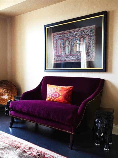 purple settee danielle colding s design portfolio hgtv design hgtv