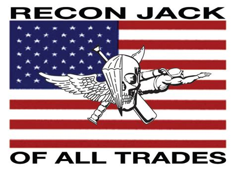 Usmc Recon Jack On Us Flag Sticker (with Recon Jack Of All