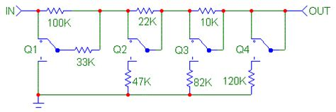 Resistor Switch Networks For Audio Volume Control Circuit
