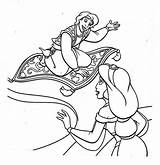 Aladdin Coloring Carpet Magic Jasmine Drawing Pages Print Printable Getdrawings Getcolorings sketch template