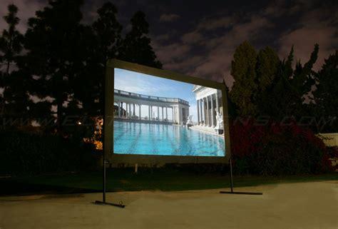camping projector screen yard