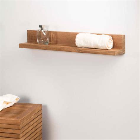 plan de travail en béton ciré cuisine tablette étagère élia salle de bain en teck massif 70cm