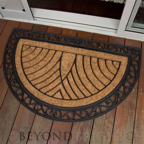 half doormat doormat 75x120cm large half moon coir heavy duty door mat