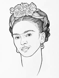 Frida Kahlo Coloring page | Colouring Pages | Frida kahlo, Coloring pages, Color
