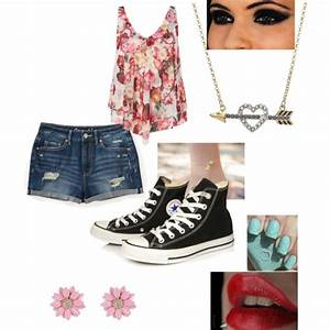 Cute teen summer outfit, chucks and a floral top | Women's ...