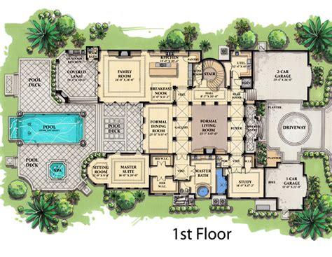 mediterranean mansion floor plans mediterranean home plans and spanish house floor plans at coolhouseplans com