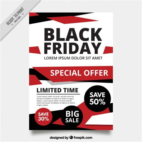 black frigay template abstract brochure black friday template vector free download