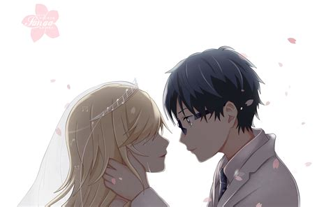 Anime Wedding Wallpaper - your lie in april hd wallpaper background image