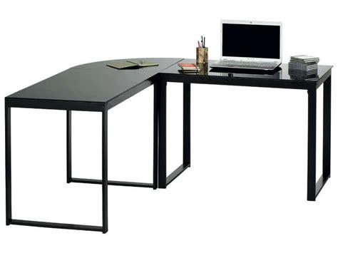 bureau d angle verre bureau d 39 angle blacky coloris noir vente de bureau