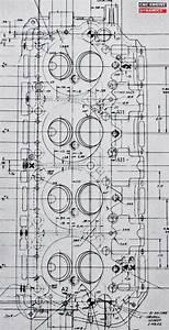 Original Blueprint    Diagram Of A 1965 426 Hemi Head
