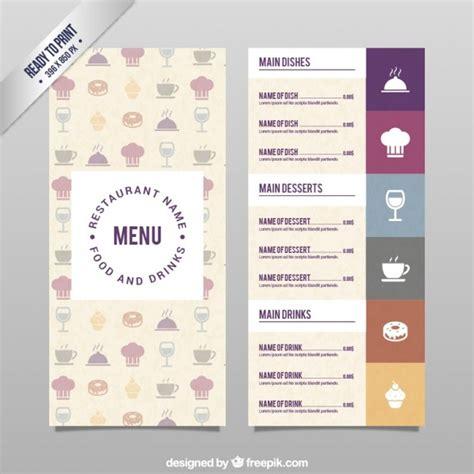 menu du restaurant fichier psd telecharger gratuit