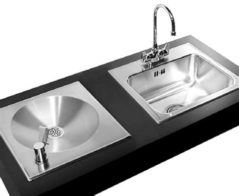 water fountain sink combo ada compliant stainless steel classroom sinks