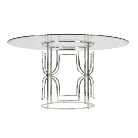 48 glass table top worlds away jennifer nickel plated dining table with 48