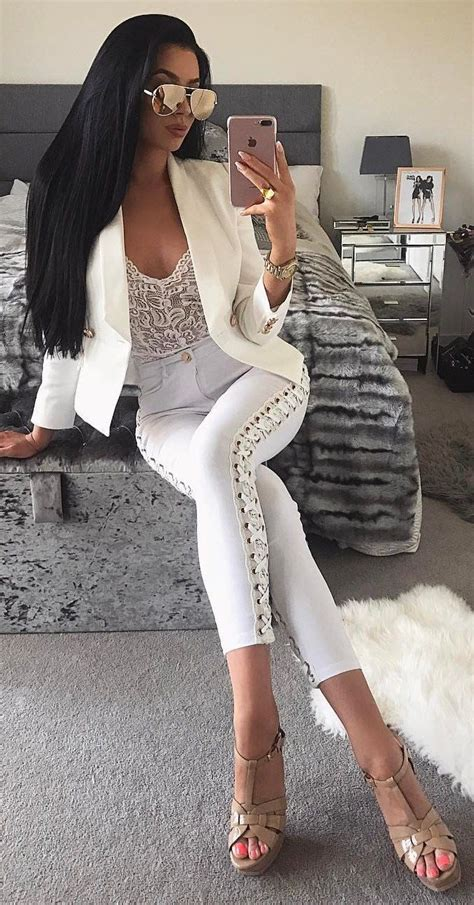 Best 25+ White lace bodysuit ideas on Pinterest | White see through dress White bodies and Lace ...