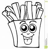 Coloring Fries French Fry Drawing Getdrawings Fast Template Spinach Sketch Clipartmag sketch template