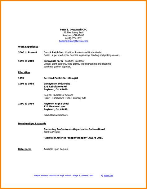 High School Resume Templates by 5 Cv Template For High School Student Theorynpractice