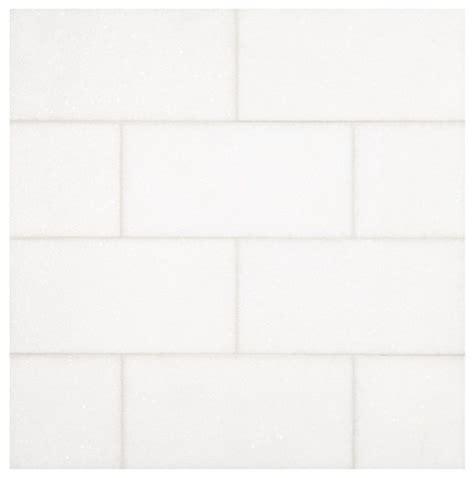 thassos white subway brick pattern 3x6 marble tile
