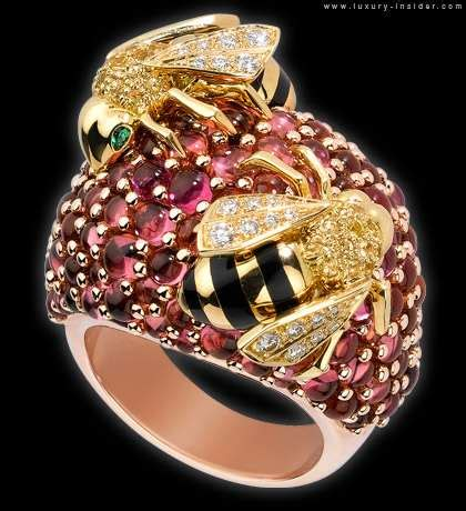 playful luxury gems  cartier trinity ring