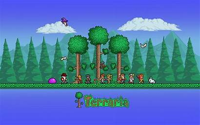 Terraria Background Forest Biome Wallpapers Desktop Wallpapertag