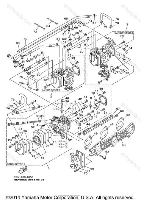 Waverunner Engine Diagram by Yamaha Waverunner 2001 Oem Parts Diagram For Carburetor