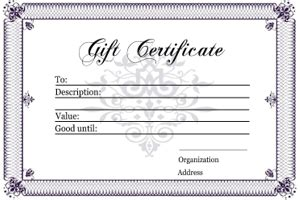blank christmas gift certificate templates