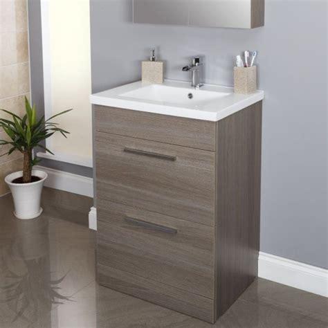 vasari grey oak floorstanding vanity unit basin mm