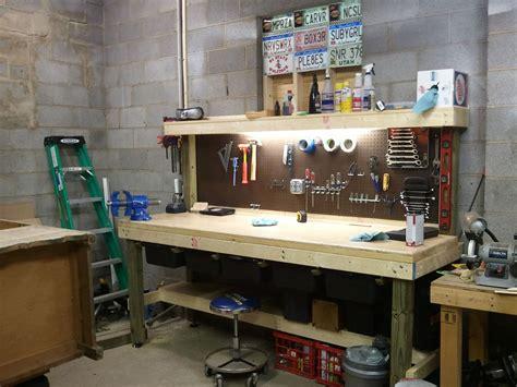 overbuilt behemoth garage workbench workbench light