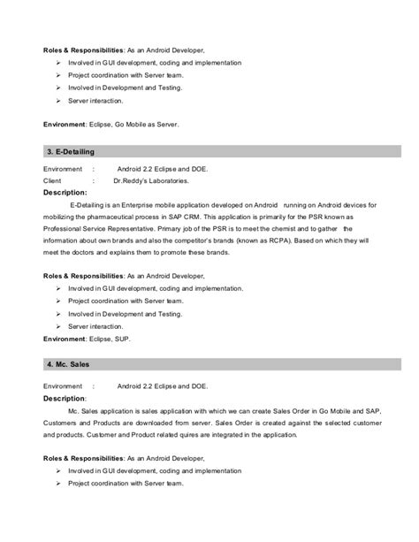 Mobile App Testing Resume by Experienced Mobile Testing Resume Model 1 Www Jwjobs Net