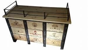Meuble A Bouteille : meuble caisses de vins stockages bouteilles de vins ~ Dallasstarsshop.com Idées de Décoration