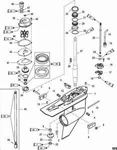 Mercury Mariner Racing 250xs  3 0l Dfi  Gear Housing