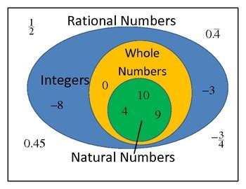 Whole Number Integer Vvenn Diagram by Rational Numbers Integers Whole Numbers